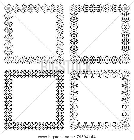 Four square with ethnic smooth swirly borders