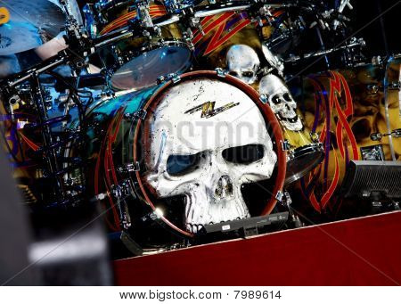 ZZ Top's Skeleton Drum Set