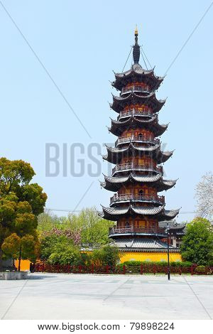 Ancient Longhua Pagoda (247 A.D.) in Shanghai