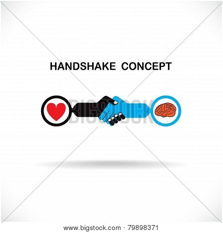 Business Partners Shaking Hands As A Symbol Of Unity, Handshake Abstract Design Template