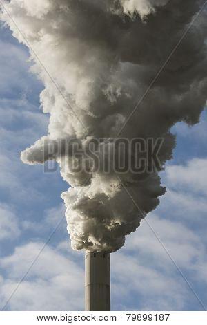 Smoking Stack Of Power Plant