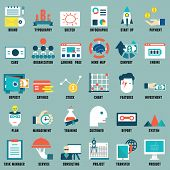picture of ebusiness  - Set of flat business commerce internet service icons for design  - JPG