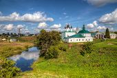 stock photo of paysage  - Beautiful view of the city of Suzdal - JPG
