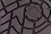 foto of sole  - Black shoe sole - JPG