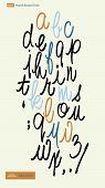 foto of cursive  - Handwritten alphabet letters vector - JPG