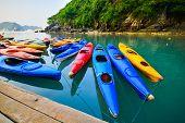 foto of kayak  - Kayak adventure sport water sea trvel ocean  - JPG