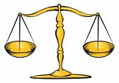 foto of magistrate  - An Illustration of a gold scale law - JPG