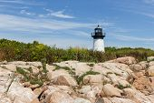 stock photo of ten  - Ten Pound Lighthouse from within Ten Pound Island - JPG