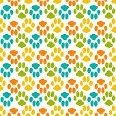 image of animal footprint  - Seamless pattern with animal footprint texture - JPG
