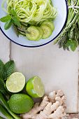 stock photo of mint-green  - Green vegetables - JPG