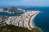 picture of ipanema  - Rio de Janeiro Aerial View Overlooking Ipanema Beach - JPG