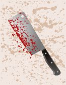 pic of serial killer  - A cleaver splattered with blood after use in a crime - JPG