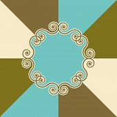 picture of swirly  - Vector Illustration of a Swirly Background Design - JPG