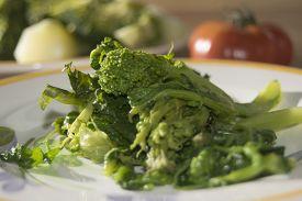 stock photo of turnip greens  - tasty Italian speciality  - JPG