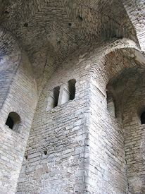 stock photo of saint-nicolas  - Ruin of the saint Nicolas church in Visby on the island Gotland in Sweden - JPG