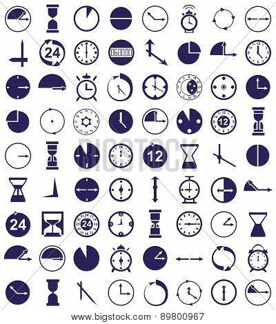 Clock Icon On White