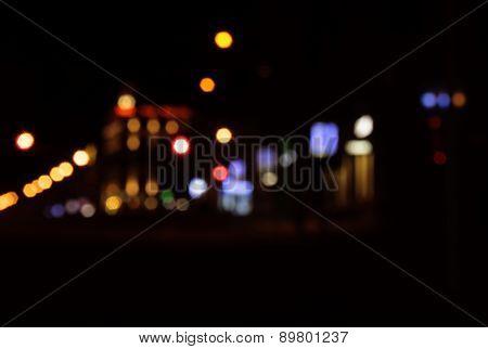 Lights Of City At Night