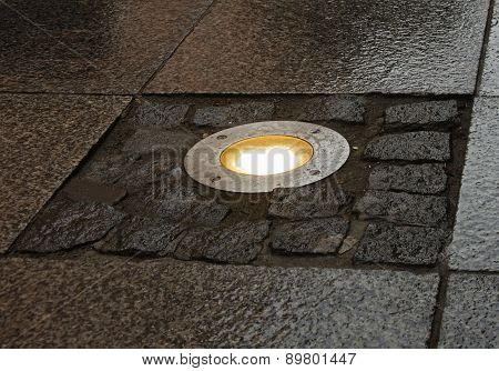Alight Lamp In Pavement