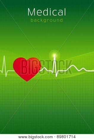 Medical cardiology background