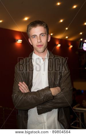 MOSCOW, RUSSIA, October, 15: Actor Alexander Pal poses during the premiere of the movie