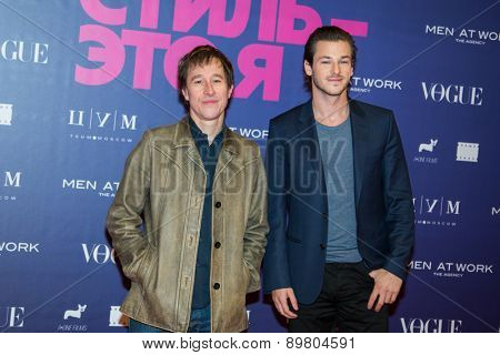 MOSCOW, RUSSIA, October, 9: French actor Gaspard Ulliel and Bertrand Bonello attend the premiere of the movie