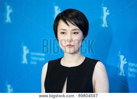 BERLIN, GERMANY - FEBRUARY 05: Rinko Kikuchi attends the 'Nobody Wants the Night', photo call during 65th Berlinale International Film Festival at Grand Hyatt Hotel on February 5, 2015 in Berlin, Germany.