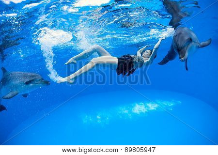 Girl with the dolphins