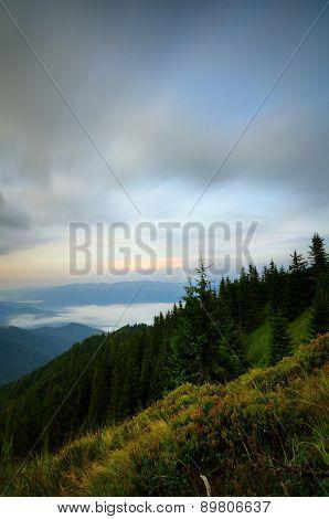 Mountain Cloudy Twilight