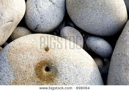 Seaside Boulders And Pebbles
