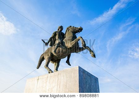 Alexander The Great Statue In Thessaloniki, Greece