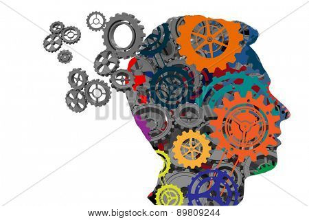 Cogs and wheels against wheel