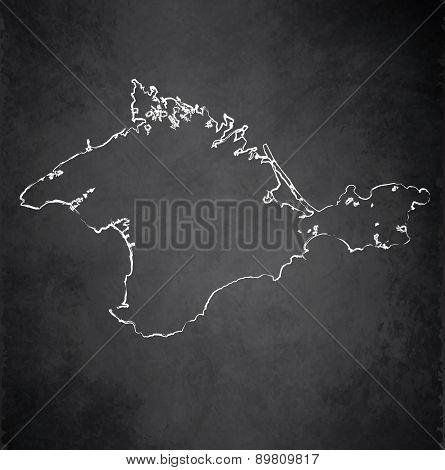 Crimea map blackboard chalkboard raster
