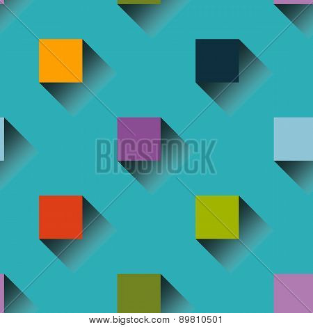 Colorful squares seamless pattern background
