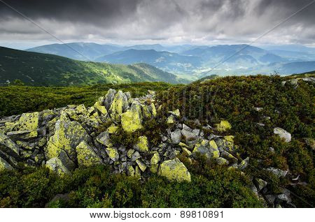 Mountains With Mossy Rocks