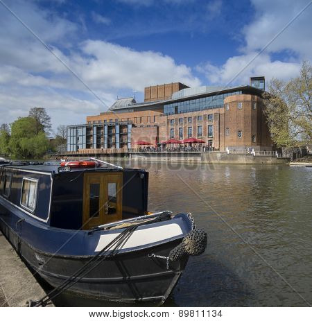 Stratford Upon Avon, England - MAY,2015 : The Royal Shakespeare theatre on the River Avon.