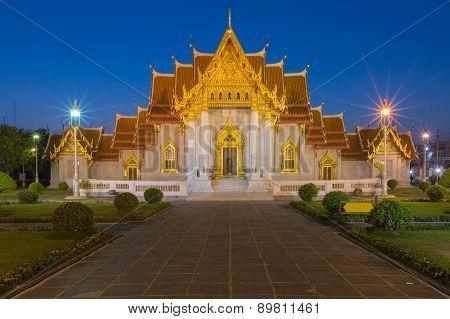 Marble Temple twilight