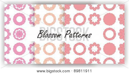 Seamless flower pattern - pink blossoms