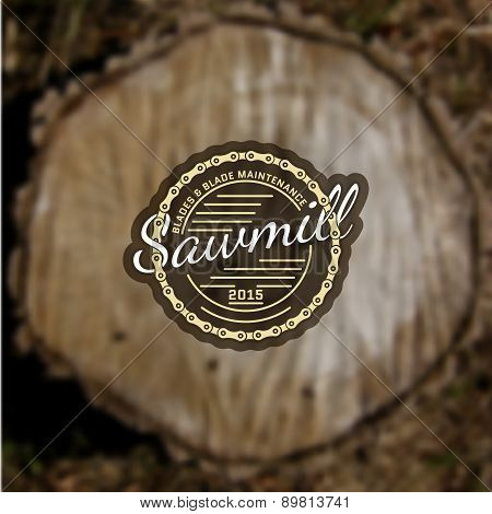 Sawmill Badges Logos And Labels For Any Use