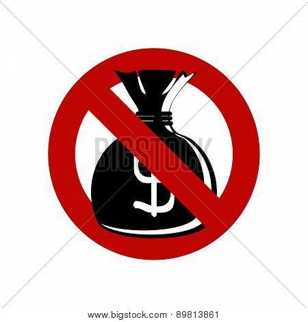 No Money Bag Sign
