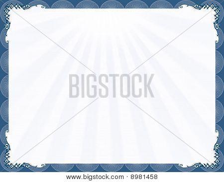Elegant blue stylish frame