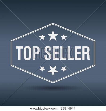 Top Seller Hexagonal White Vintage Retro Style Label