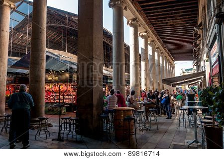 At The Mercat St. Josep La Boqueria, Barcelona, Spain