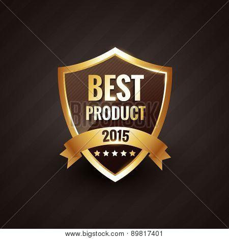 best product of 2015 vector golden label design badge element
