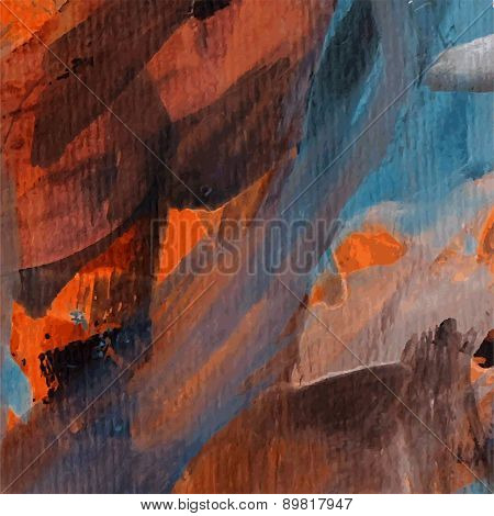 Abstract Pained Canvas Background