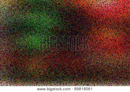 Holiday colorful abstract greeting card with dotted pointillized style