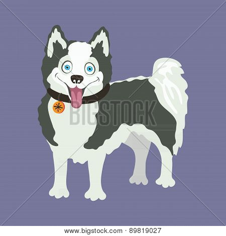 Yakutian Eskimo dog. Vector illustration.