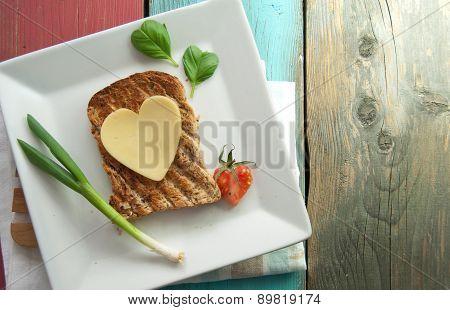 Healthy Heart Shape Sandwich
