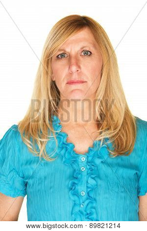 Stoic Mature Woman