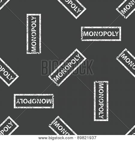Rubber stamp MONOPOLY pattern