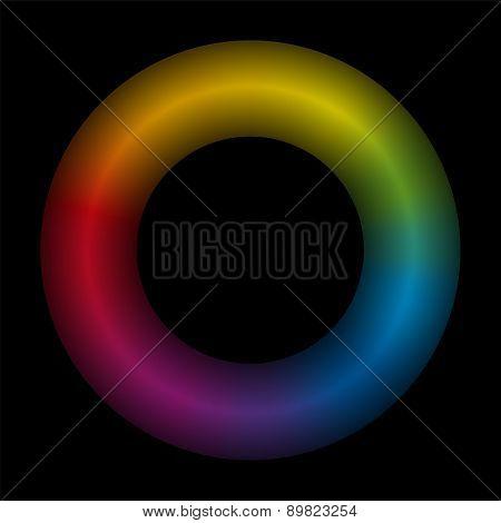 Torus Rainbow Colored Black